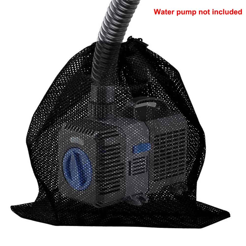 Filter Bag Water Pump Pond Aquarium Net Pouch Black Fish Tank Mesh With Drawstring Garden Supplies Tear Resistant Outdoor Home