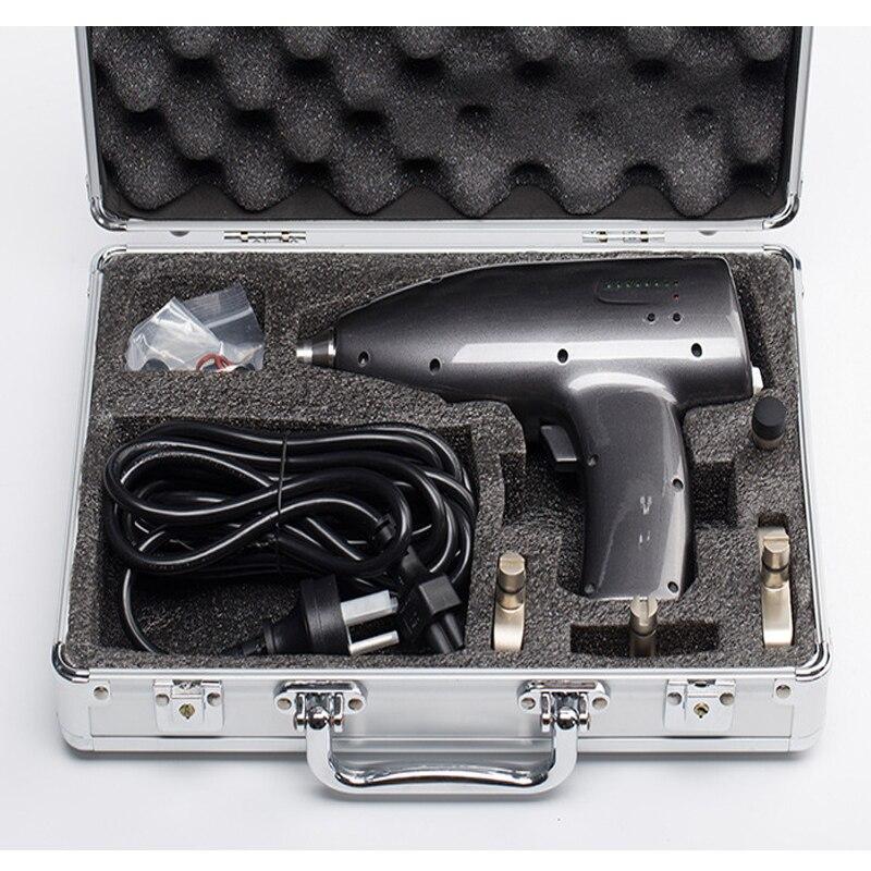 مسدس تدليك 800 نيوتن ، 4 رؤوس ، علاج فقرات عنق الرحم ، تقويم الأسنان ، أداة تقويم العمود الفقري ، تصحيح