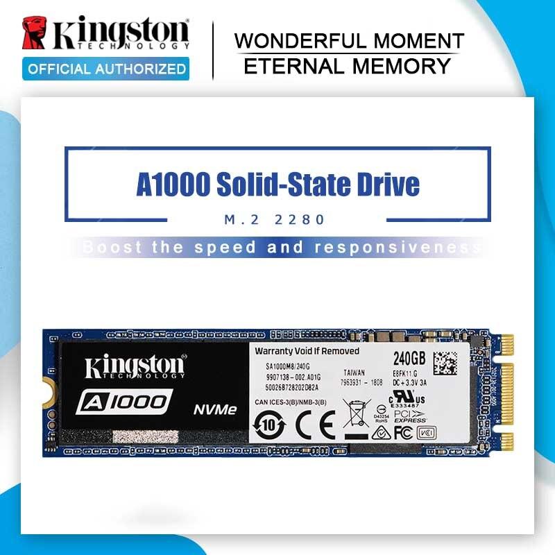Kingston A1000 NVMe M.2 2280 SATA SSD de 120GB 240GB 480GB 960GB Drive de Estado Sólido Interno SFF unidade de Disco Rígido Para PC Notebook Ultrabook