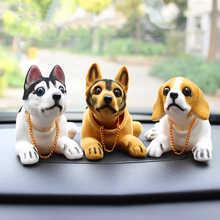 Car Doll Husky Beagle St Bernard Shepherd Shake Head Dog Decoration Car Interior Decoration Cute Creative Gift Tabletop Ornament