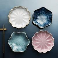 originality ceramics plate flavor small dish seasoning dish food plate a european floral flower dish ceramics tableware