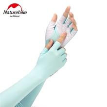 Naturetrekking hommes femmes demi doigt en plein air bras chauffe UPF40 + UV Protection refroidissement bras manches gant Golf cyclisme conduite pêche