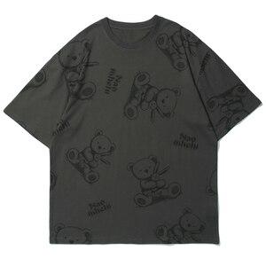 LACIBLE Hip Hop Streetwear T Shirt Funny Bear Letter Print Tshirt 2021 Men Cotton T-Shirt Summer Short Sleeve Tops Tees