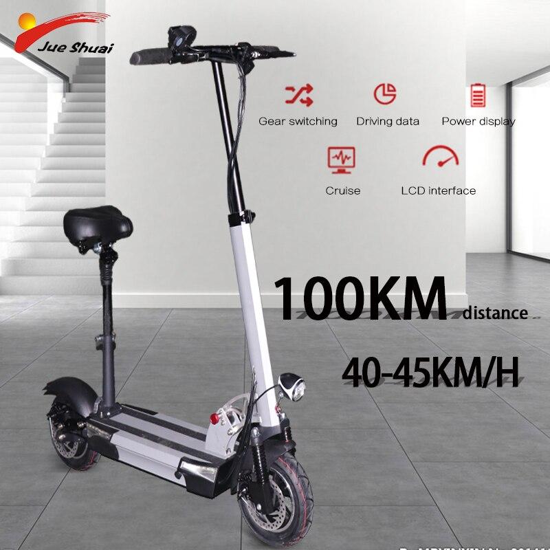 Scooter électrique 48V Scooter électrique planche à roulettes électrique E Scooter 10 pouces Longboard Dualtron tricycle pour adulte