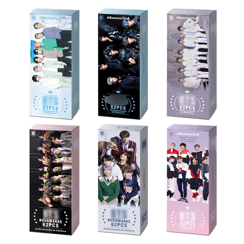 Kpop 8 Bookmarks New Bangtan Boy Map Of The Soul_7 Peripheral Album Free Stickers, Paper Gift Bookmarks