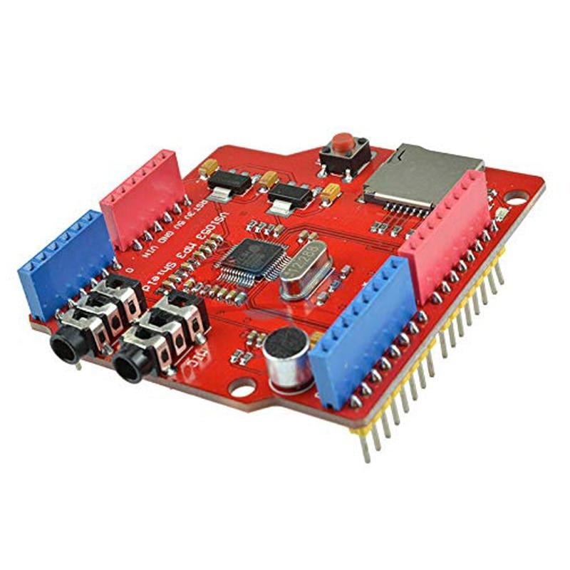 VS1053 VS1053B reproductor de Audio estéreo Dual MP3 Shield decodificador de registro Módulo de desarrollo ranura para tarjeta TF para Arduino UNO R3 One