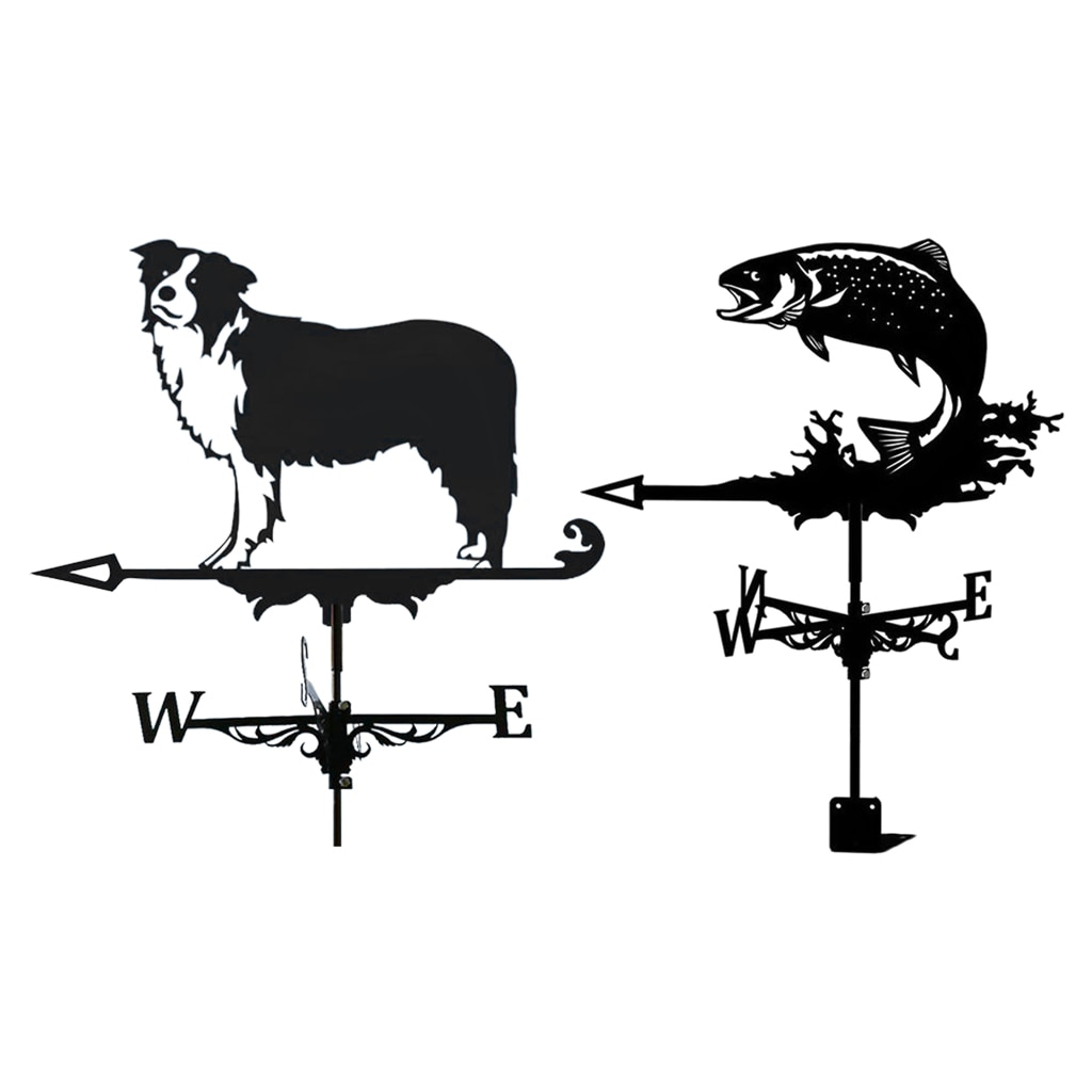 ديكور الرياح ريشة الطقس ريشة الأسود حديقة جبل ساحة حصص ، الفولاذ المقاوم للصدأ الطقس ريشة مزرعة دائم المشهد