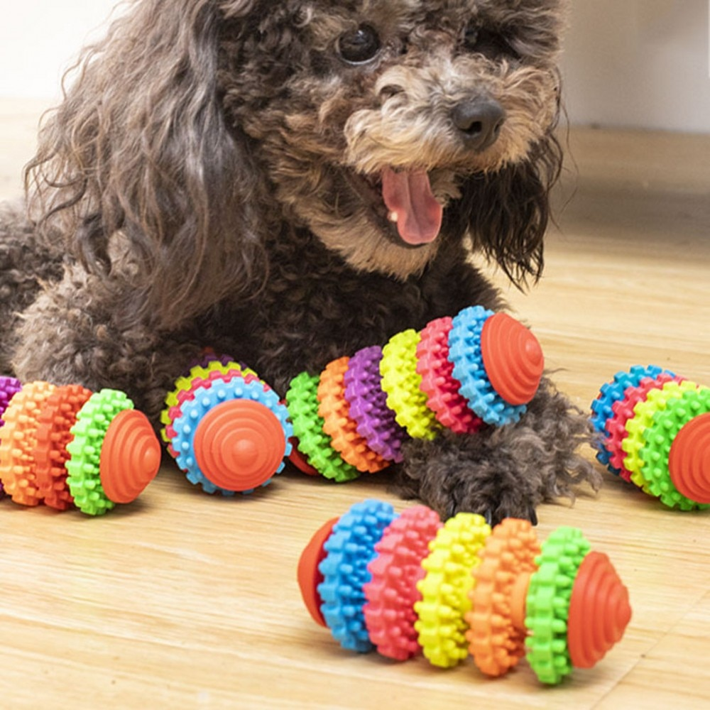 Gear Gums Pet Chew Toys Sliding Wheel Rubber Dog Toy Durable Health Pet Products for Puppy Bite Dog