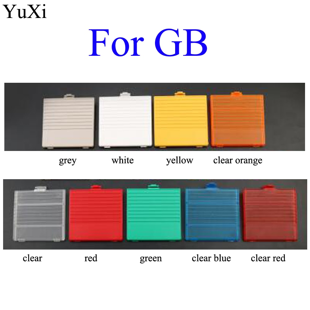 YuXi 10 Color For Nintendo Game Boy Classic  DMG-01 New Battery Door Cover black red blue green yellow