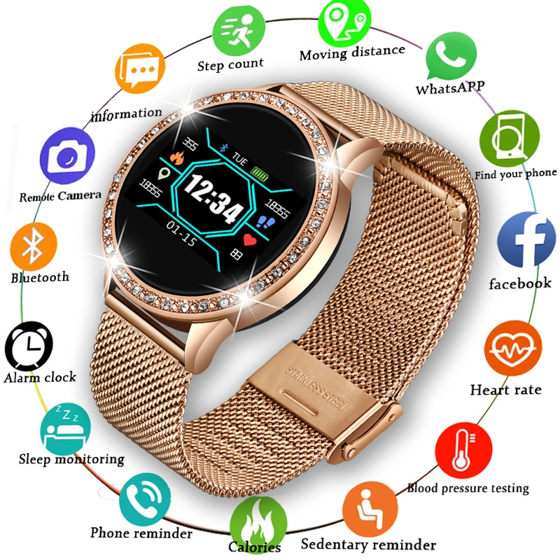 LIGE 2020 New Smart Watch Women Men Heart Rate Blood Pressure Sport Multi-function Watch fitness tra