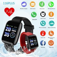Fréquence cardiaque pression artérielle Bracelet de montre intelligente Fitness activité Tracker 116Plus BT Bracelet de montre intelligente Bracelet Sport podomètre royaume-uni