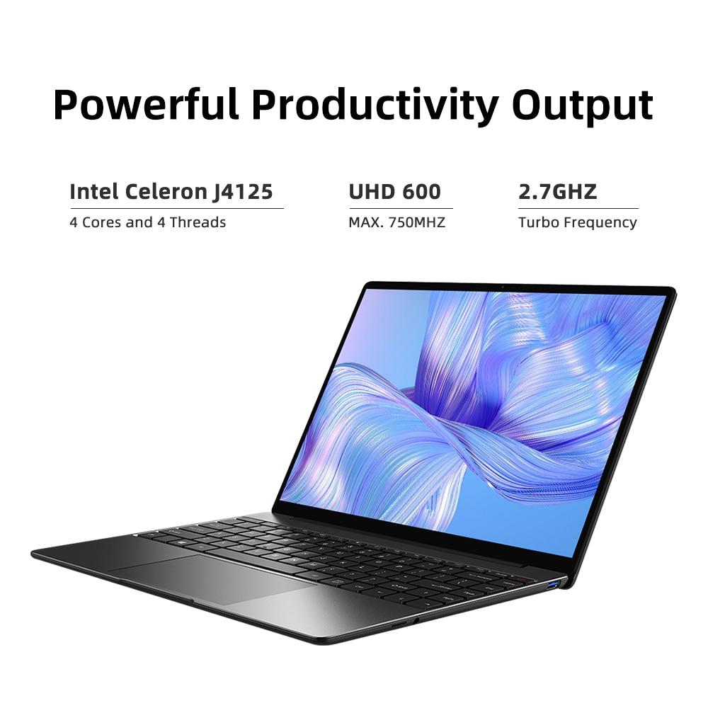 CHUWI GemiBook Pro 14 inch 2K Screen Laptop 12GB RAM 256GB SSD Intel Celeron Quad Core Windows 10 Computer with Backlit Keyboard 6