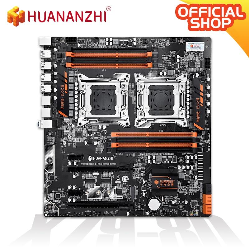 HUANANZHI X79 Dual 8D X79 Motherboard  Intel Dual CPU LGA 2011 Xeon E5  DDR3 1333/1600/1866MHz 256GB M.2 NVME SATA3 USB3.0 E-ATX