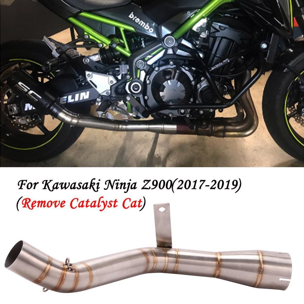 Silenciador de escape para motocicleta tubo de enlace medio modificado antideslizante para kawasaki Z900 Ninja900 de escape Z 900 ninja 900