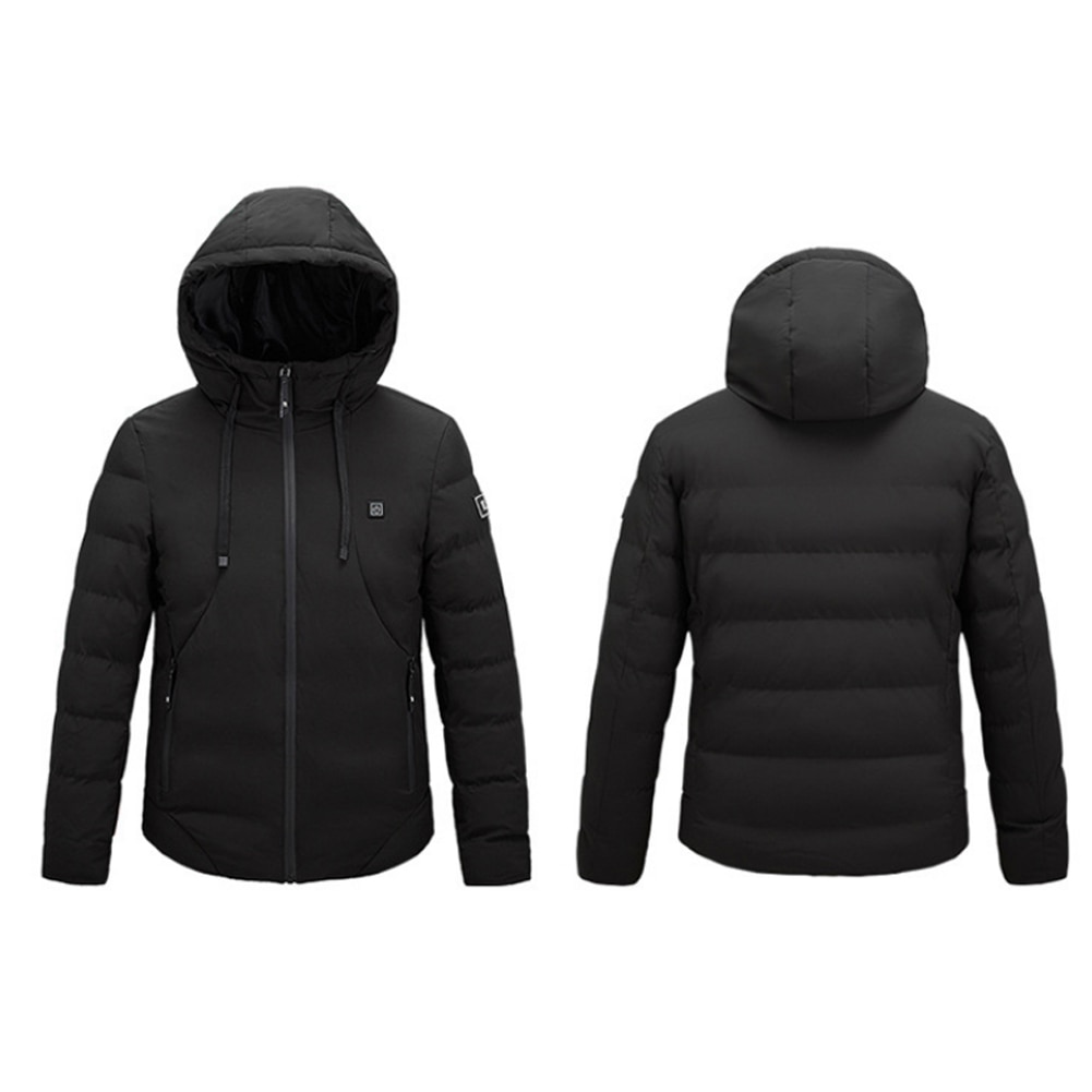 Heating jacket, heating cotton clothes, USB heating, three-speed electric heating, slim jacket, oversized 4 zone heating