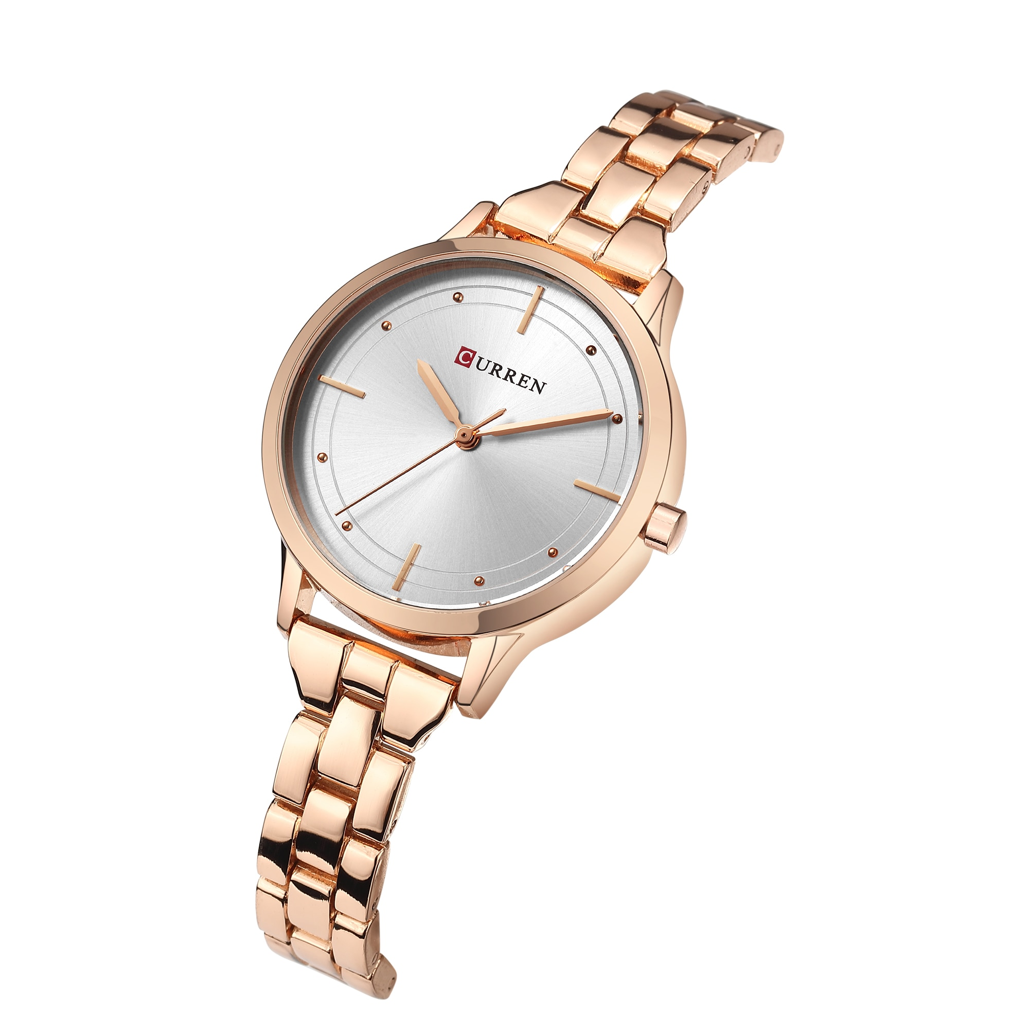 CURREN Relogio Feminino Stainless Steel Casual Women Romantic Gift Watches Top Brand Fashion Ladies Wristwatches Montre Femme