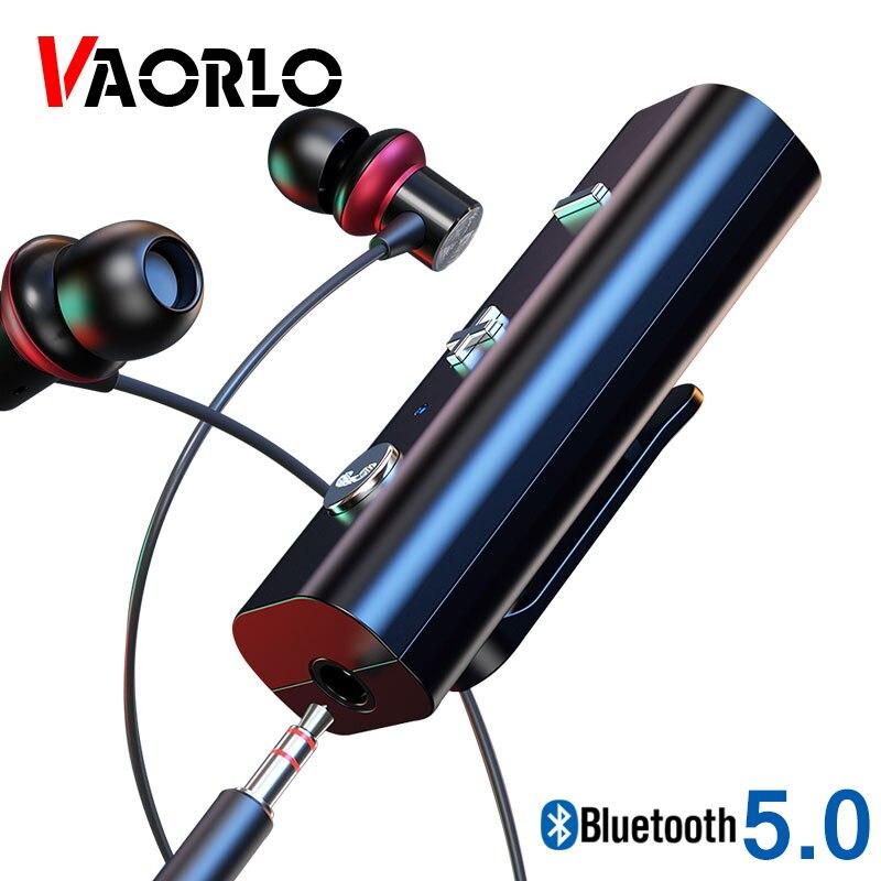 VAORLO Bluetooth 5.0 Receiver 3.5mm AUX Stereo Audio Music Wireless Adapter HandsFree Car Kit Transmitter For Speaker Headphones