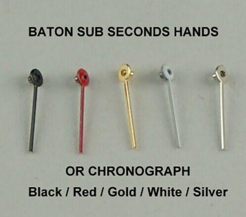 Variedade de 400 pçs baton sub segundos mãos cronógrafo pequeno relógio mãos dial chrono vintage em linha reta
