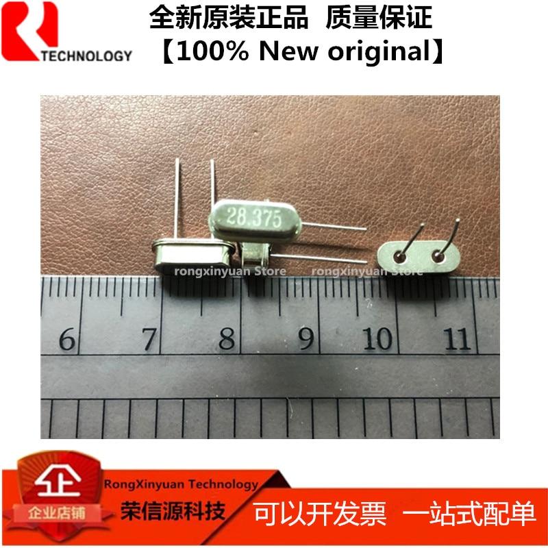 20 uds/lote 28.375M 28.375MHZ 28.375 DIP-2 HC-49S en línea de cristal de cuarzo 100% nuevo original