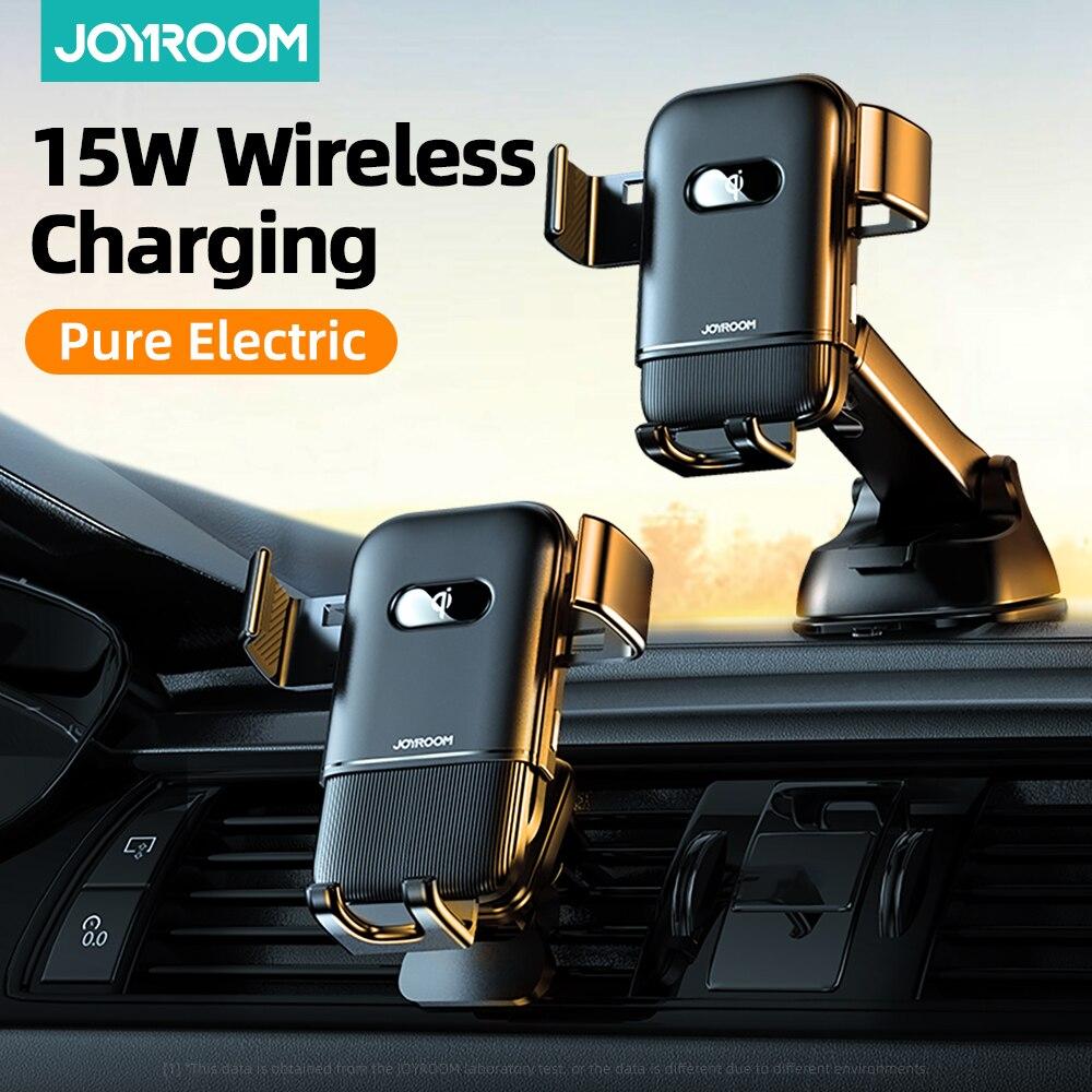 حامل هاتف للسيارة مع شاحن لاسلكي ، شحن سريع بالأشعة تحت الحمراء ، 15W Qi