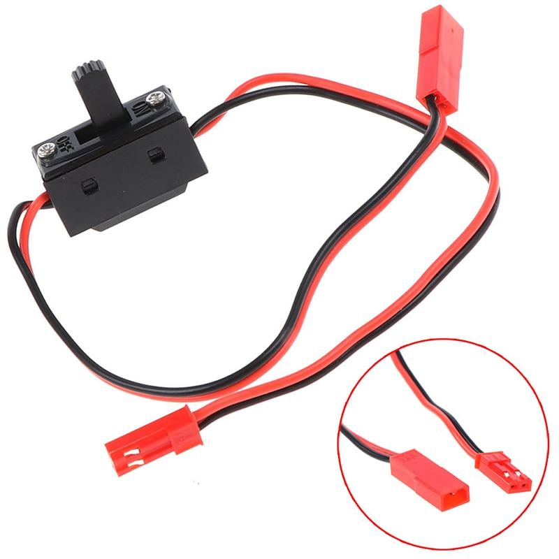 30cm RC Car LED Light Control Power Switch JST Connector Wires for Axial SCX10 90046 HSP TRX4 RC Crawler