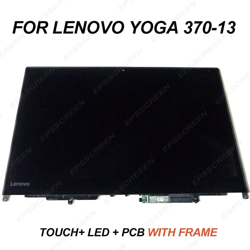 Reemplazo de 13,3 pulgadas para LENOVO THINKPAD YOGA 370/yoga 370-13 montaje FHD pantalla LED LCD + PANEL táctil + bisel + PCB pantalla digitalizada