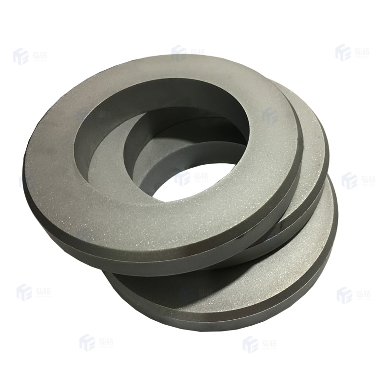 Tungsten carbide cold rolls used in reinforcement wire cold rolling and forming enlarge