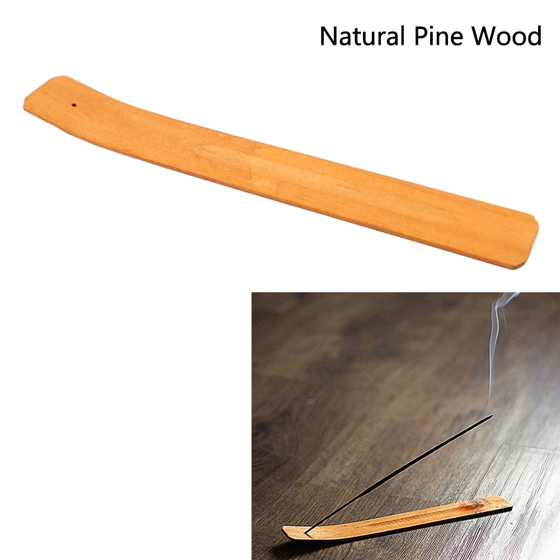AliExpress - 1PC Pure Wooden Incense Burner Stick Elegant Ash Catcher Holder Fragrant Natural Ash Board Aromatherapy Home Decor