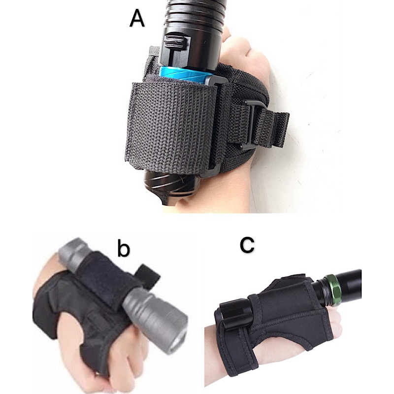 2020 New Underwater Scuba Diving Dive LED Torch Flashlight Holder Soft Black Neoprene Hand Arm Mount