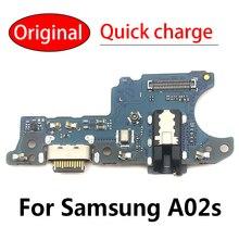 100% Original New For Samsung A02s A025F A025M USB Board Charging Port Board USB Connector Board Fle