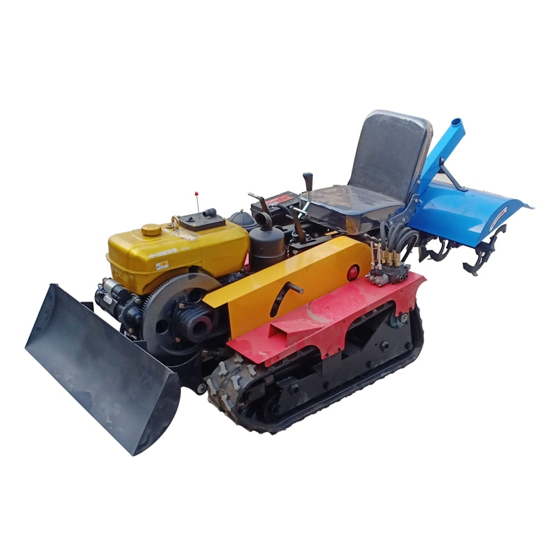 16hp crawler tractor rotary tiller micro tiller weeding, ditching fertilization multifunction greenhouse agricultural machinery