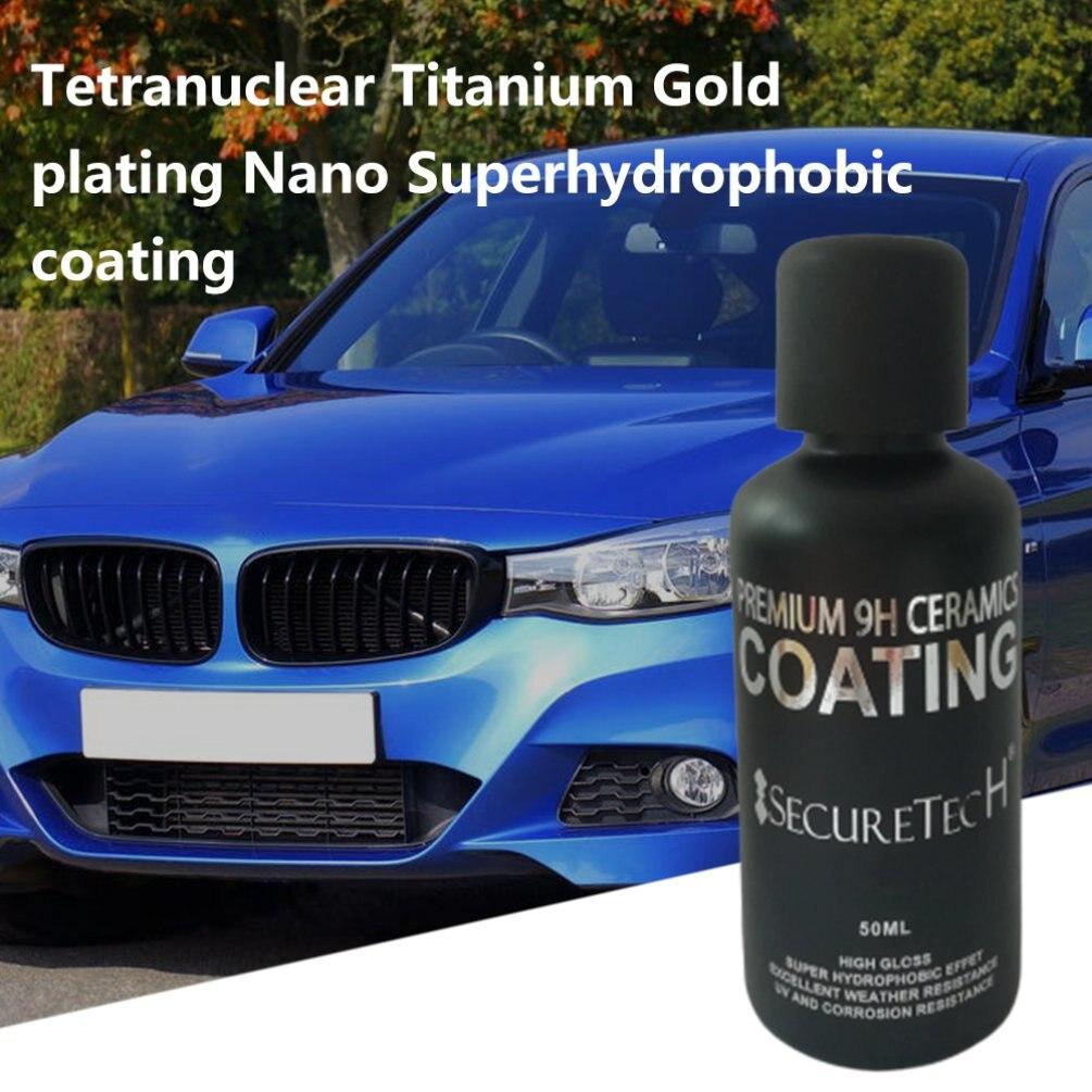 Auto Beauty 30/50ml grafeno Nano-plateado cristal Super hidrofóbico Nano-Recubrimiento pintura brillo inundación Nano