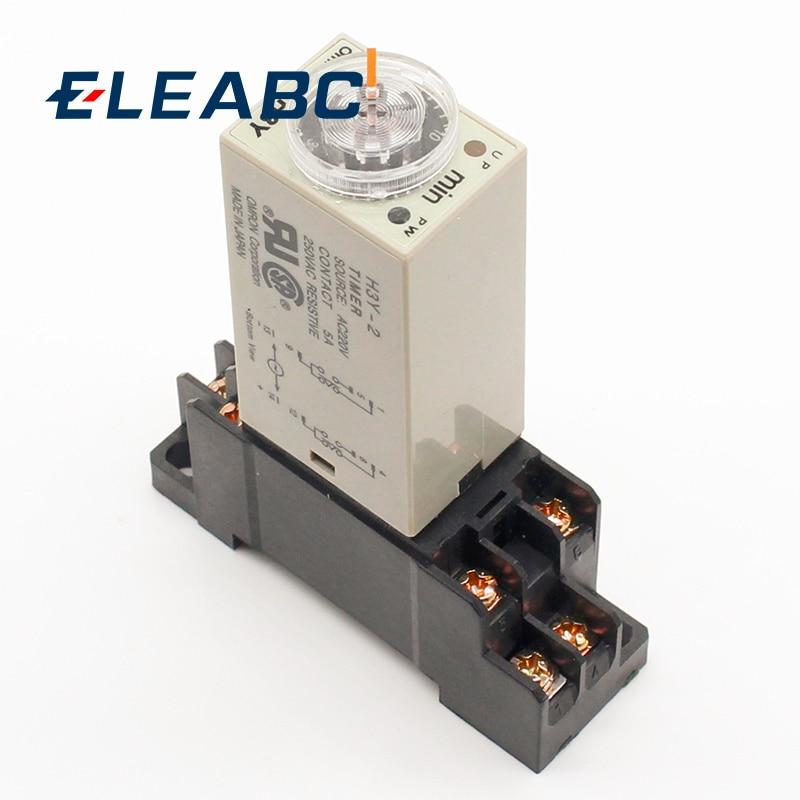 1 шт. H3Y-2 AC 220 В таймер задержки Реле времени 0 - 30 минут/секунд с базой