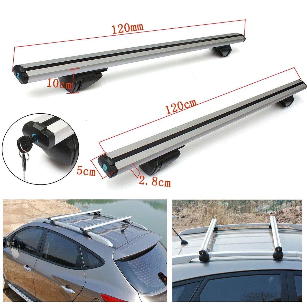 Trava universal para teto de carro, suporte para malas ajustável antifurto com trilho cruzado 120cm