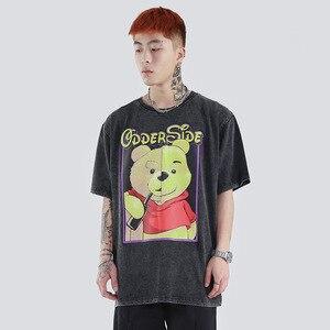 Men T Shirt Streetwear Harajuku Hip Hop Cartoon High Street Tshirt Anime New Oversize Cotton Tees Tops Male Couple T-Shirt