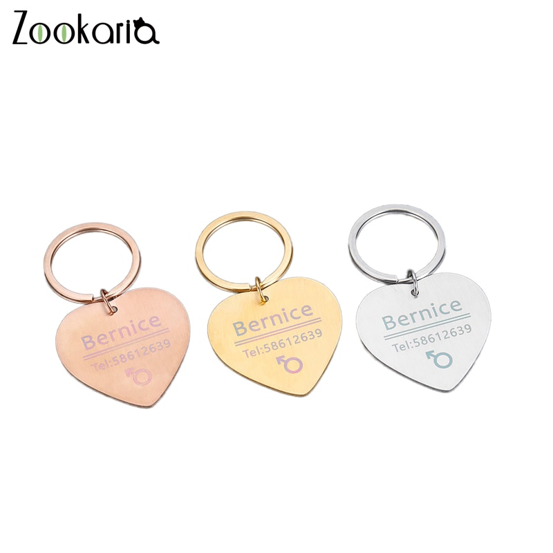 personalized pet id tag dog cat nameplate aluminum collar accessories free customized engraving tags Customized Dog Cat Pet ID Tags Metal Name Tags for Puppies Cat Anti-Lost Pet Nameplate for Dogs Personalized Pet Accessories