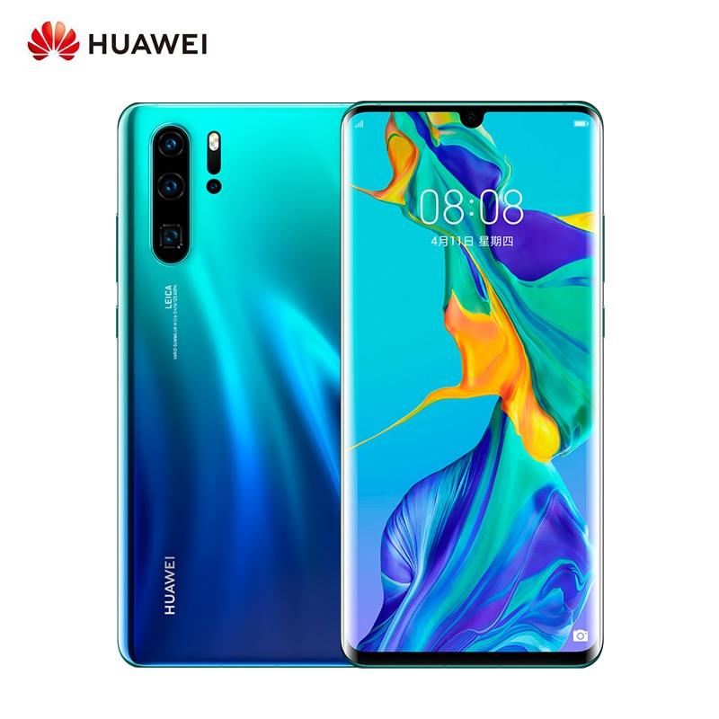 Smartphone dorigine Huawei P30 Pro 8 go RAM 256 go ROM 6.47 pouces 4G GSM Android 9.0 téléphone portable 40MP + 32MP Leica 4 caméra