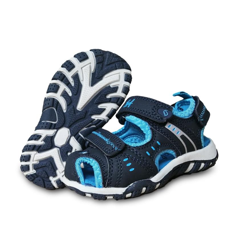 NEW DESIGN 1pair PU leather Boy Children Sandals beach shoes,inner 14-18.5cm, kid Soft Shoes
