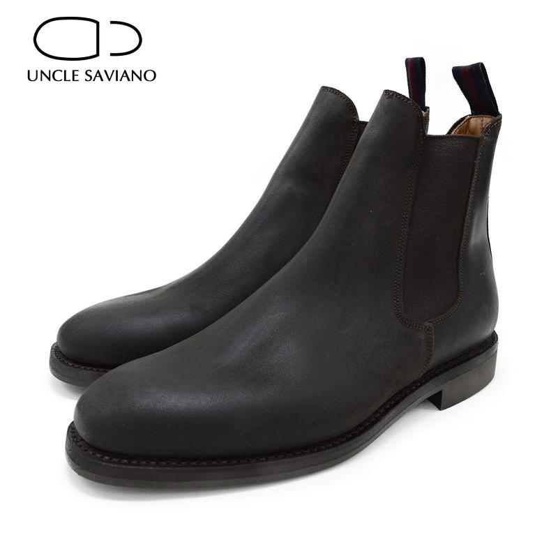 العم سافيانو الرجال تشيلسي الشتاء أحذية سوداء برقبة أحذية حذاء برقبة للعمل أحذية مصممين الموضة الرجال إضافة المخملية البقر المدبوغ