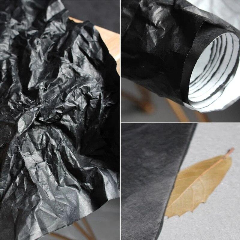 Матовая черная жесткая бумага Tyvek для мытья дышащей бумаги, устойчивая к разрыву, водонепроницаемые сумки для самостоятельного изготовления, бумажный кошелек, дизайнерская ткань