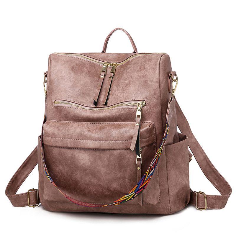 Mochila GRANDE Retro para mujer, Mochila De Cuero PU, Mochila para mujer, mochilas de viaje, mochilas escolares de hombro, Mochila