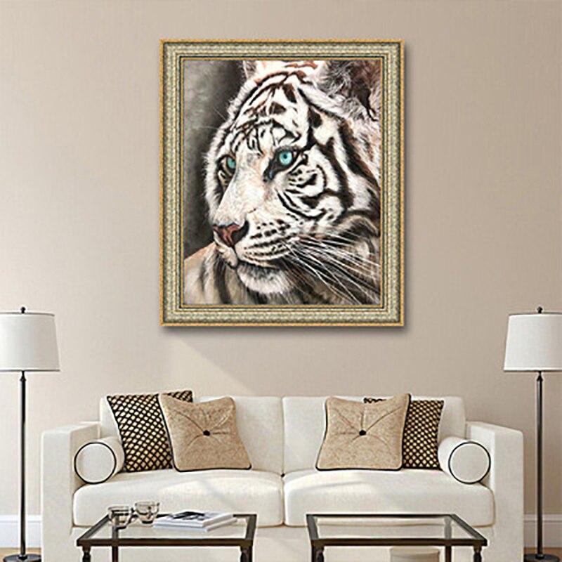 DIY 5D a todo color diamante pintura animal tigre de punto de...