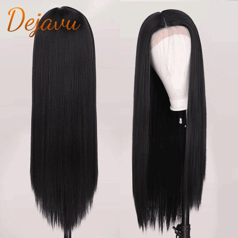 Brazilian Straight Lace Front Wig Natural Color 1B Virgin Human Hair Wigs Pre Plucked With Baby Hair Remy Wig