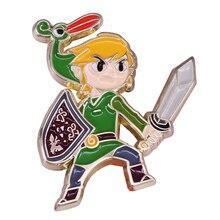 Emportez la légende partout où vous allez avec cette broche légende des jeux vidéo Zelda