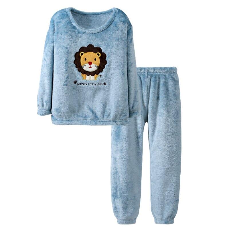 criancas de inverno pijamas terno criancas roupas 2021 novos desenhos animados flanela
