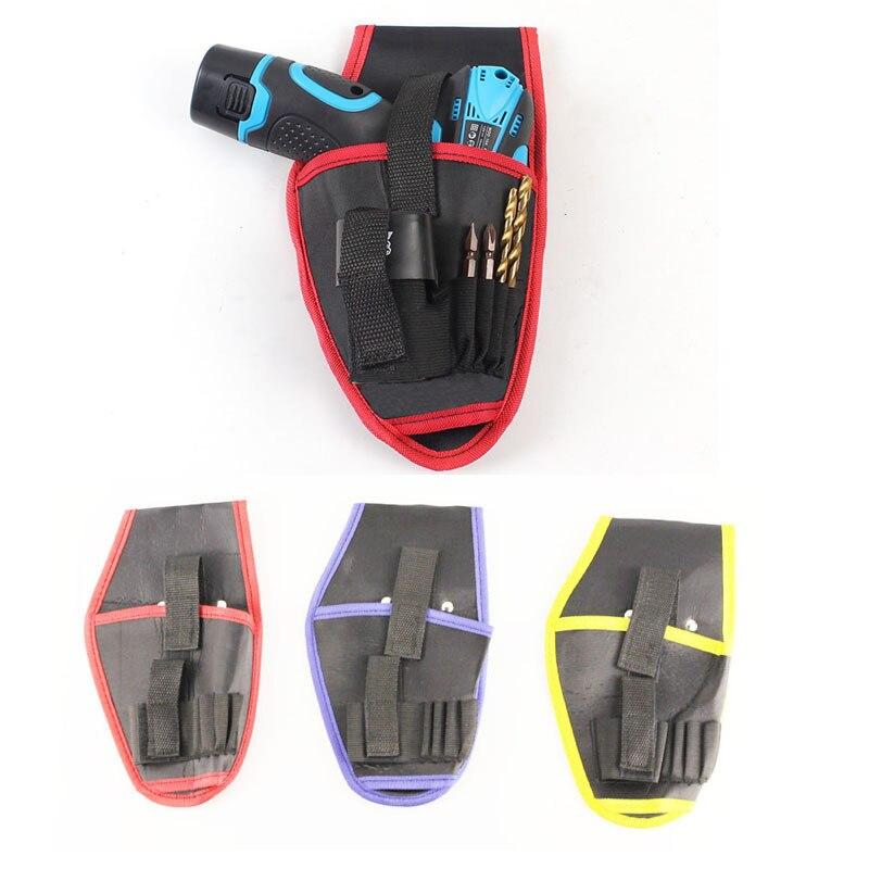 Лидер продаж, 1 шт., портативный держатель для дрели, чехол для дрели, беспроводной холщовый фрезеровочный инструмент для дрели 12 В, сумка для...