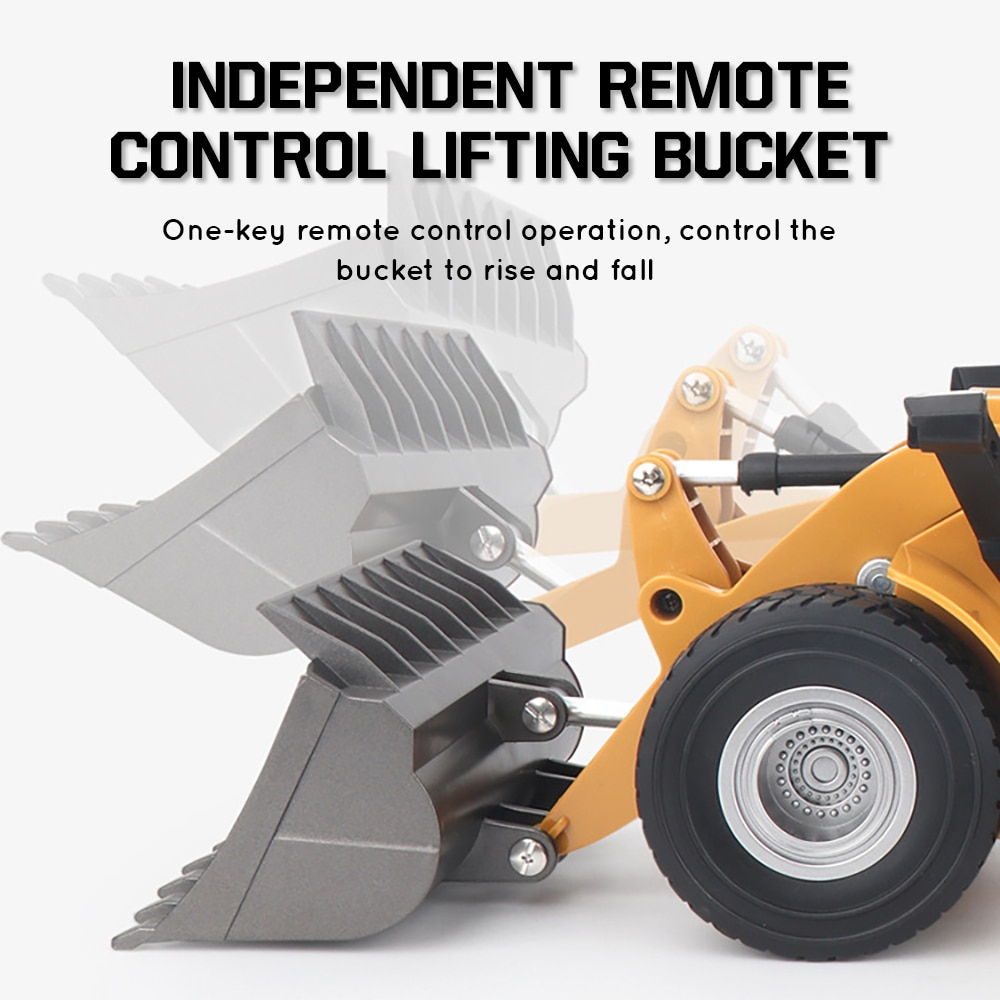 RC truck Remote Control Car 4 Wheel Bulldozer Construction Tractor Vehicle with Lights & Sounds Children's toys for boys kids enlarge