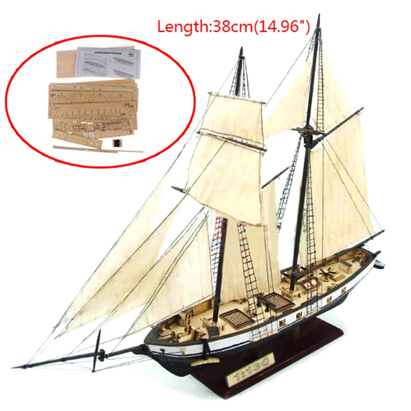 New 1:130/100/70/30 Sailing DIY Ship Assembly Model Classical Wooden Boat Decoration Wood