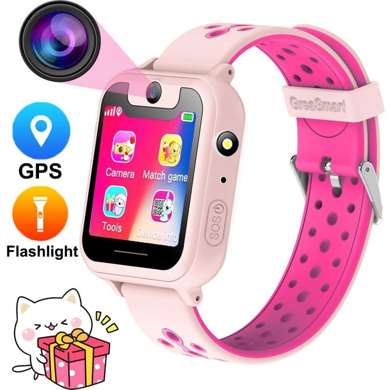 S6 Kids Smart Watch GPS Tracker Watch HD 1.54' Touch Screen Remote Camera Anti Lost SOS Alarm SIM Location Children Watch