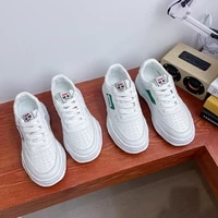 little white shoes womens 2021 autumn new ins tide thick soled student board shoes womens sports shoes korean style